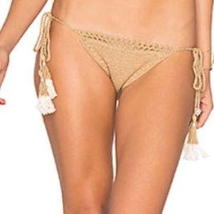 SHE MADE ME  Jannah tie-side crochet bikini briefs